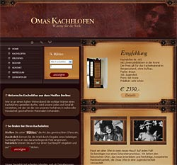 "Website ""Omas Kachelofen"""