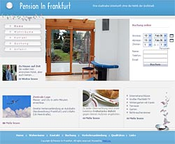 "Website ""Pension In Frankfurt"""